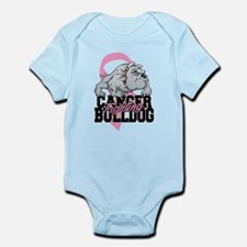 Breast Cancer Bulldog Infant Bodysuit