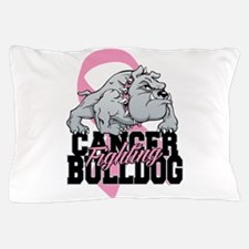 Breast Cancer Bulldog Pillow Case
