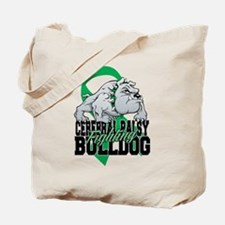 Cerebral Palsy Bulldog Tote Bag