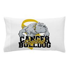 Childhood Cancer Bulldog Pillow Case