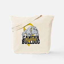 Childhood Cancer Bulldog Tote Bag