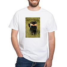 flat coated retriever retrieving T-Shirt