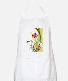 Stylish Abstract Floral Design Apron