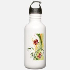 Stylish Abstract Flora Water Bottle