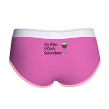 Wine OClock Somewhere Women's Boy Brief