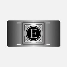 Deco Monogram E Aluminum License Plate