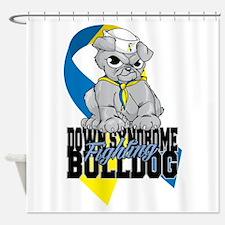 Down Syndrome Bulldog Pup Shower Curtain