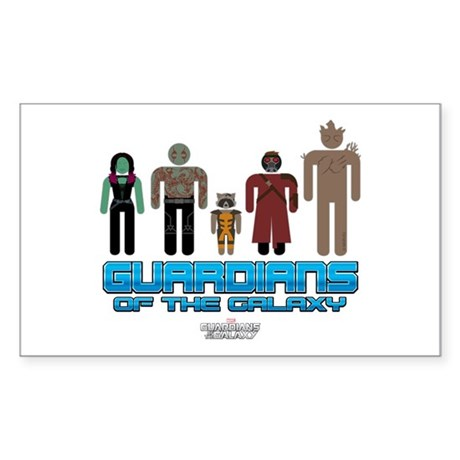 Guardians of the Galaxy Cast Sticker (Rectangle)