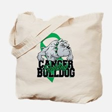 Kidney Cancer Bulldog Tote Bag