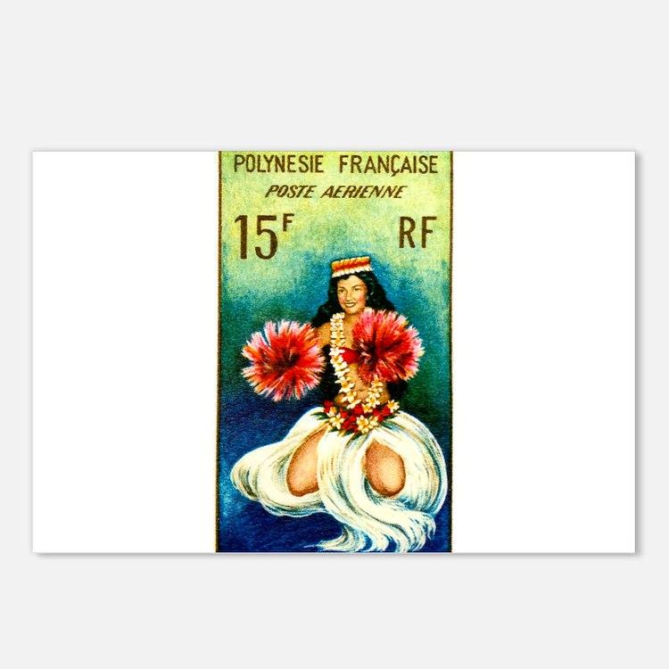 1964 French Polynesia Tahitian Dancer Stamp Postca