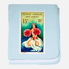 1964 French Polynesia Tahitian Dancer Stamp baby b