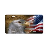 American flag we the people License Plates