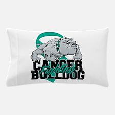 Ovarian Cancer Bulldog Pillow Case