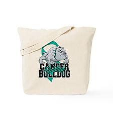 Ovarian Cancer Bulldog Tote Bag