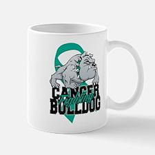 Ovarian Cancer Bulldog Mug