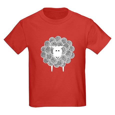 Yarny Sheep Kids Dark T-Shirt
