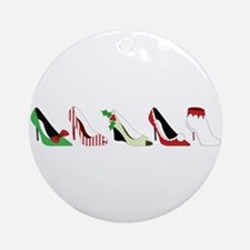 Christmas Shoes Ornament (Round)