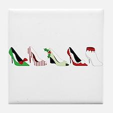 Christmas Shoes Tile Coaster
