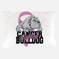 Testicular Cancer Bulldog Pillow Case