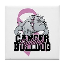 Testicular Cancer Bulldog Tile Coaster