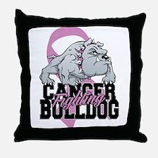 Testicular Cancer Bulldog Throw Pillow