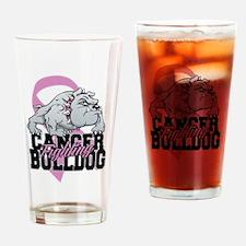 Testicular Cancer Bulldog Drinking Glass
