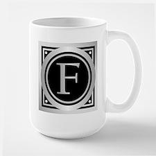 Deco Monogram F Mugs
