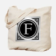 Deco Monogram F Tote Bag