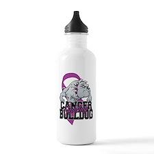 Thyroid Cancer Bulldog Sports Water Bottle