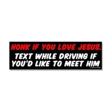 Funny Driving Car Magnet 10 x 3