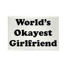 World's Okayest Girlfriend Magnets