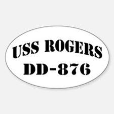 USS ROGERS Sticker (Oval)