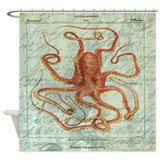 Octopus shower curtain Shower Curtains