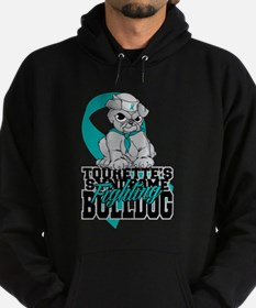 Tourette's Syndrome Bulldog Pup Hoodie (dark)