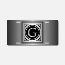 Deco Monogram G Aluminum License Plate