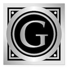 """Deco Monogram G Square Car Magnet 3"""" x 3"""""""