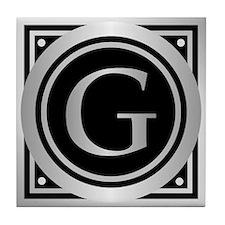Deco Monogram G Tile Coaster