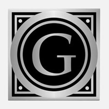 Deco Monogram G Tile Coaster