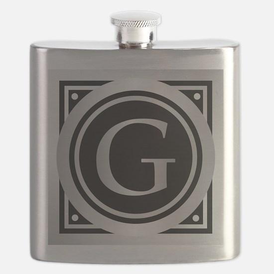 Deco Monogram G Flask