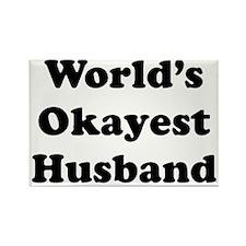 World's Okayest Husband Magnets