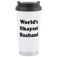 World's Okayest Husband Travel Mug