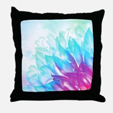 Abstract Dream Flower Blue Pink Art Throw Pillow