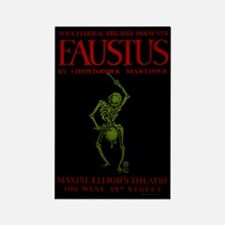 Federal Theatre Project's Faustus Rectangle Magnet