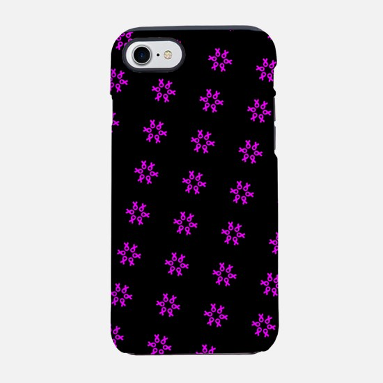 Chic Pink Ribbons Breast Cance iPhone 7 Tough Case