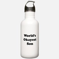 World's Okayest Son Water Bottle