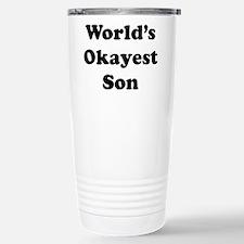 World's Okayest Son Travel Mug