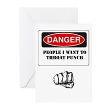 Throat Punch Greeting Cards (pk Of 10)