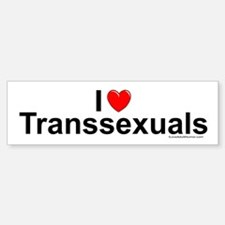 Transsexuals Sticker (Bumper)