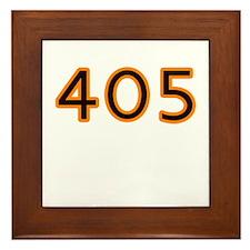 405 orange Framed Tile