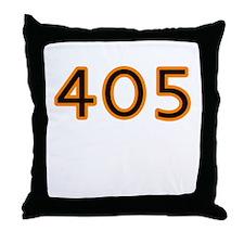 405 orange Throw Pillow